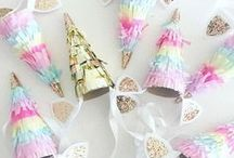 Unicorn Party / Be AWESOME like a unicorn! Unicorn inspired decorations, party themes, food and drink recipes, costumes and more!