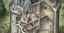 Cutaway / Drawings and studies of buildings:  cutaways or plans