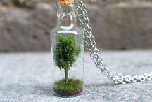 Worlds in the Bottles / Miniature bottles collection from space of the Internet
