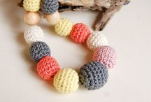 Crocheted jewerly by Snorkovna. Modern hipster necklace. Boho style. / Stylish accessory for eco lovers.