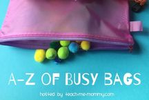 Busy Bags Galore / Busy Bag Ideas from babies to school-aged kids!