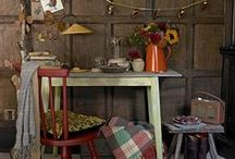 { Trend } Rustic & Cosy / A mix of the bright, busy eclectic interior style with a hint of warmth and coziness.
