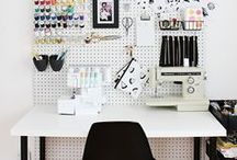 { Eclectic Rooms } Home Office / eclectic home office design ideas, featuring fabulous desks, chairs & supplies we think you'll love! <3