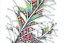 Doodlea / Käsin piirrettyjä, mitä moninaisempia kuvioita ja kuvia.