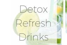 Detox Drinks Refreshing / You know you should drink at least 8 glasses of water per day. Why you shouldn't make it more fun and health-benefiting?  Drink up!