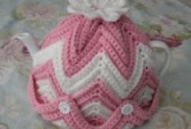 teapot covers, cup cozy, and coasters / by Linda Cody