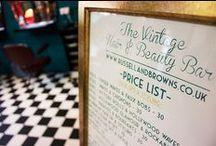 Our Vintage Salon / Our beautiful Art-Deco inspired Vintage Hair Salon