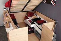 Platzspar-Möbel / Ihr braucht mehr Platz in eurer Studentenbude oder 1-Zimmer-Wohnung? Kein Problem: Wir haben die perfekten Möbel und Ideen für Stauraum in eurem Zuhause!