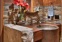 El baño... un sitio que debe ser especial... / Quien no suspira por un baño de inmersión... con una vista magnifica a través de una ventana que coincida picarescamente, con el borde la vasca... Música suave, luz de velas, ambiente en colores cálidos....  Modernos, rústicos, originales... todos tiene su encanto, que tal vez dependa de nuestro toque especial para convertirlo en ese espacio que esperábamos... Que los disfruten.... :) / by Adriana Gerosa