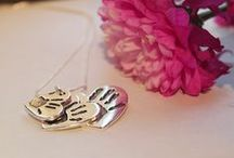 Fingerprint Jewellery by SILVELLA JEWELLERY / Precious Prints Forever from Silvella - Handcrafted by me in my home studio. Each piece has been lovingly handmade in South Wales, UK.  - Silvella is a registered online retailer of jewellery