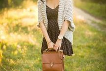 Dress+sweater/cardigan