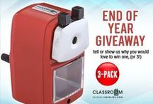 Monthly Giveaway Promo! / A monthly giveaway promo. We'd be giving one pencil sharpener to one lucky fan every month! For more info visit us at http://classroomfriendlysupplies.com/ . Sign up for the mailing list or like us on Facebook and Twitter to get updates.