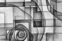 #Drawing, #Howto, #Dimenson, #Zentagles, #Doodles / The line is the quintessence of every drawing. Der Anfang und das Ende- die Linie, der Strich- die Quintessenz einer Zeichnung.