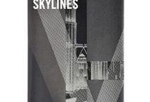 SKYLINES - NERO / Visual book Skylines printed on #Blackpapers #Favini