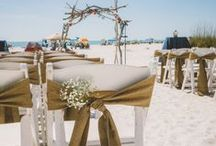 Rustic & Burlap Weddings / Photos of our Burlap Runners and Overlays that we offer at Linens by the Sea