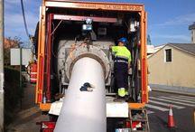 Ferrol Reparación de Colector / Sistema de manga continua. CIPP. Tecnología sin zanja.