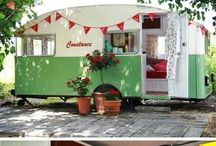Camper Chicks / Airstreams and Vintage Trailers, she shack, traveling on wheels, glamping / by Becky Crowther