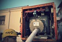 Rehabilitación de colector en Pozuelo Madrid / Sistema sin zanja para reparación interior de 100 m decolector DN 300 mm en C/ La Iglesia en Pozuelo, Madrid.