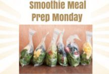 Smoothie Meal Prep Monday / Fabulous ideas for Smoothies on Meal Prep Monday's!