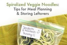 Zoodles and Zucchini Spiralizer Recipes