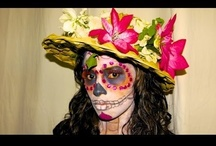 Dia de Los Muertos / #Dia de los #Muertos- Day of the #Dead- featuring all of the iconic elements of this #Holiday including #sugar #skulls and #Halloween #facepainting