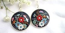 Applique Jewelry / Polymer Clay Embroidery