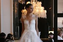 Monique Lhuillier / We are honored to showcase Monique Lhuillier gowns at Joan Pillow Bridal.