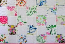 Upcycled vintage linens