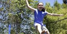 Trampolines / What a great way to have outdoor fun and exercise as a family!