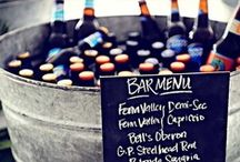 wedding drinks bar