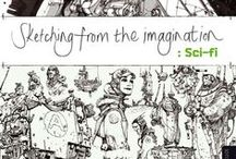 Sketching from the Imagination / Take a look at the awesome #sketching #artbooks - Sketching from the Imagination and Sketching from the Imagination: Fantasy!