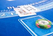 Blackjack Supplies and Equipment / Need some inspiration for an awesome casino blackjack table?  Blackjack table felts, poker chip trays, dealer shoes and discard holders. We've got you covered!  All the odds and ends you need for your DIY or Professional Blackjack Table.