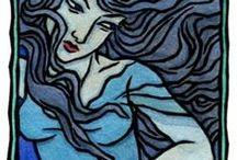 The Celtic Goddesses / ARTWORK BY THALIA TOOK
