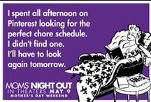 Moms' Night Out E-Cards / Being a mom is important ... but it can be a challenge. Laughing at being a mom can be therapeutic.