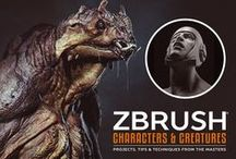 ZBrush Characters & Creatures / Check out some of the incredible character and creature concepts showcased in our ZBrush Characters and Creatures book.  Featuring work from top character artists such as Kurt Papstein, Bryan Wynia, Maarten Verhoeven and many more, this book is designed to guide beginners and advanced artists alike through the ZBrush character and creature creation process!  / by 3DTotal