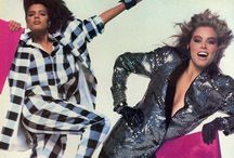 80s style - high eighties / (~1982-87) Typical eighties with huge volumes, strong make-up and all its exaggerations.