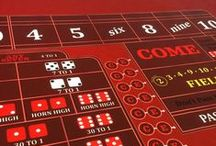Craps Supplies and Equipment / Need some inspiration for an awesome casino craps table? Table felts, chip trays, dice and accessories. We've got you covered! All the odds and ends you need for your DIY or professional Craps table.
