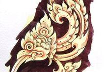 Thai style / tattoo e desenhos no estilo Tailandês.