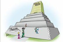 Einheitskasse / Karikaturen zur Einheitskasse