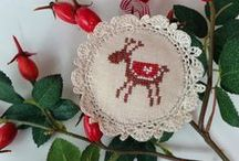Christmas cross stitch / Noël au point de croix