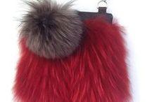 Etsy / Fur keychain, real fur, fox fur, cowhide leather, silver, silver fox, silver fox fur, pom pom, pompom, High Quality Real Silver Fox Fur Crossbody Bag