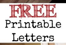fonts-letters-printables / by P P