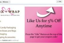 Box and Wrap Coupons / This is where you can find our current promotions on our boxes and wraps.