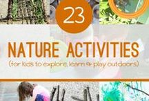 Outdoor Fun / Get your kids outside and having fun with these outdoor activities and nature inspired ideas.