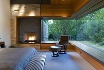 fireplace in the living room / building , disign and construction     fireplaces  / by De Carina - fireplaces