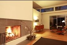 wood burning fireplace / beautiful open fireplaces / by De Carina - fireplaces