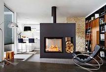 double sides fireplace / Italian bifacialle