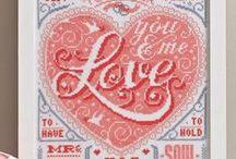 cross stitch love
