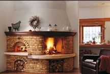 fireplace in the kitchen / beautiful fireplaces in the kitchen