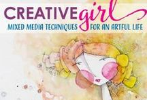 Our Creative Book Club / We are exploring books that push our creative buttons and get that muse in gear.  Follow along as we play!  This month's book is Creative Girl by Danielle Donaldson.